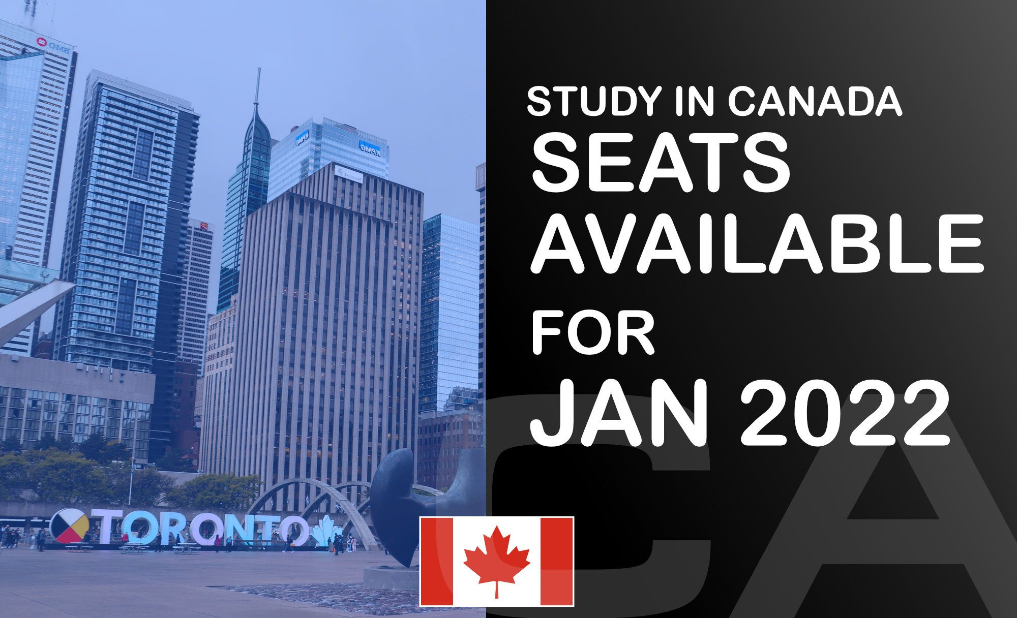 🇨🇦 Apply to Canada: Limited seats for January 2022 intake